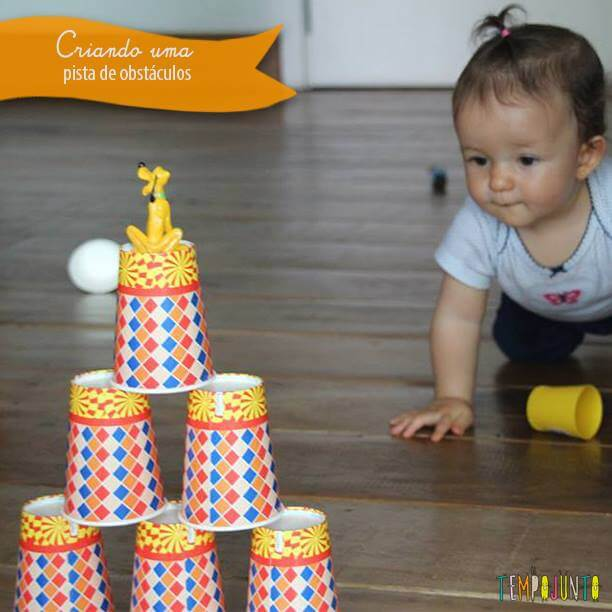 Pista de obstáculos para os bebês