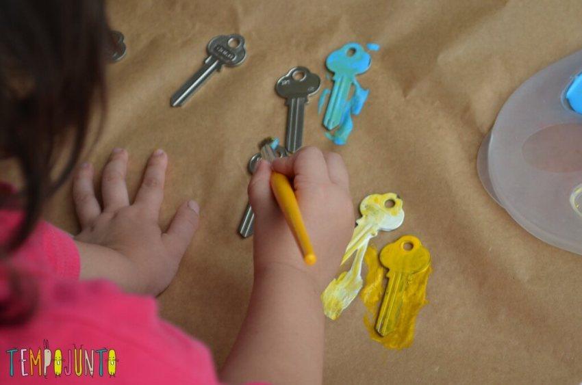 Desafio artesanato fácil - pintando o sino de chaves