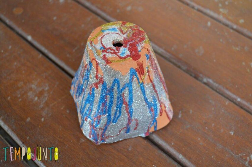 Desafio artesanato fácil - vaso
