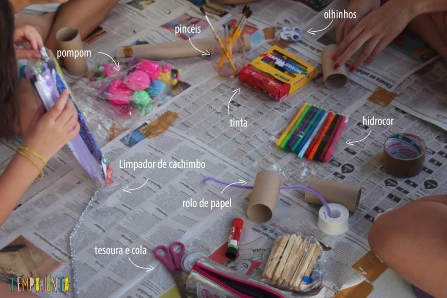 ideias criativas com rolo de papel higiênico - Material
