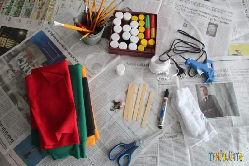 ideias de artesanato de natal para fazer em casa - material boneco de neve