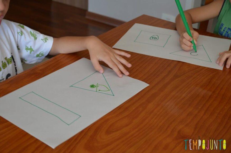 gincana - meninos desenhando