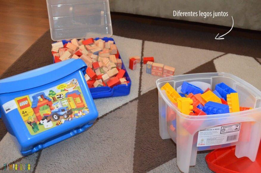 Cantinhos - diferemtes legos juntos