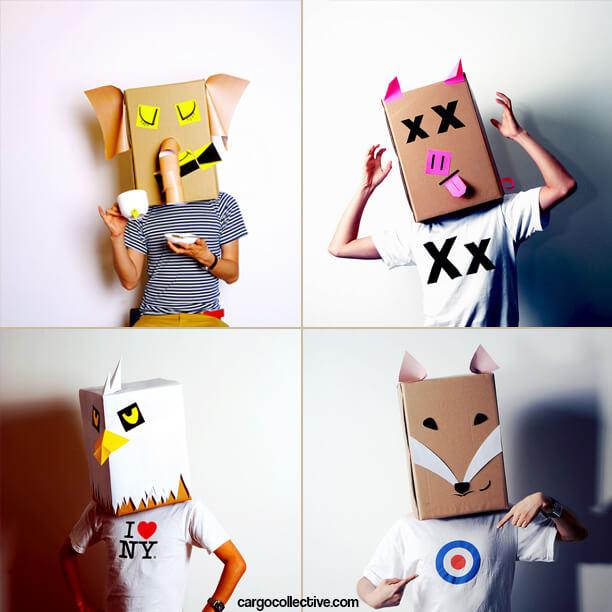 10 ideias criativas para fazer brinquedos com caixas de papelão - mascara