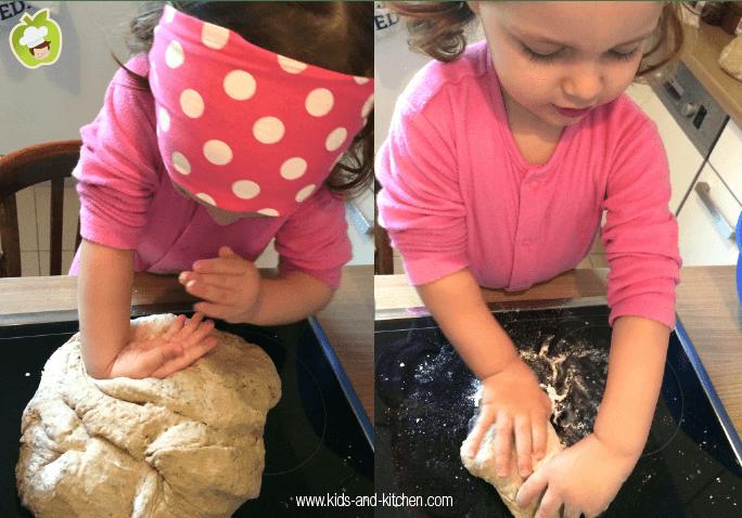 Cozinha com crianças - lily amassando