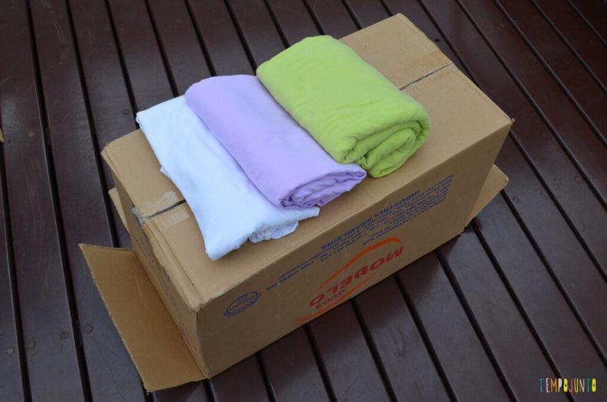 Brincar de faz de conta - caixa com lenços