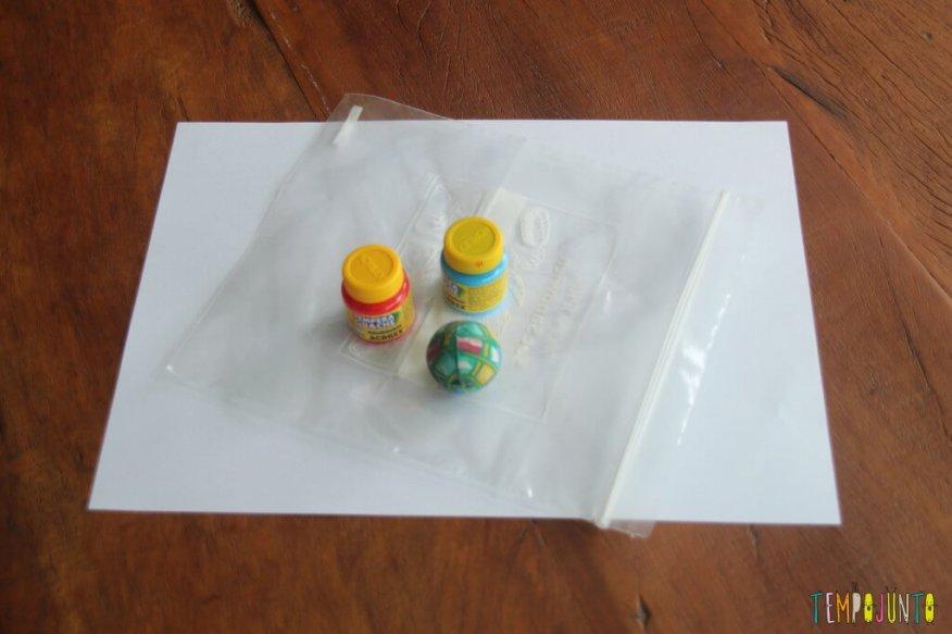 Pintura sem sujeira para bebês - material