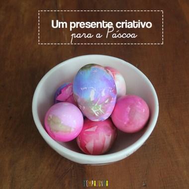 Presente criativo para Páscoa – ovos de gelatina com casca colorida