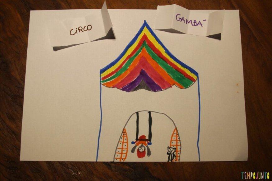 Como deixar a atividade de desenhar mais divertida - gambá no circo
