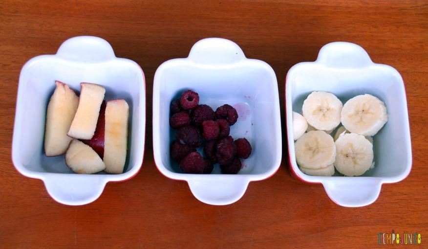 Uma brincadeira para experimentar novos sabores - frutas