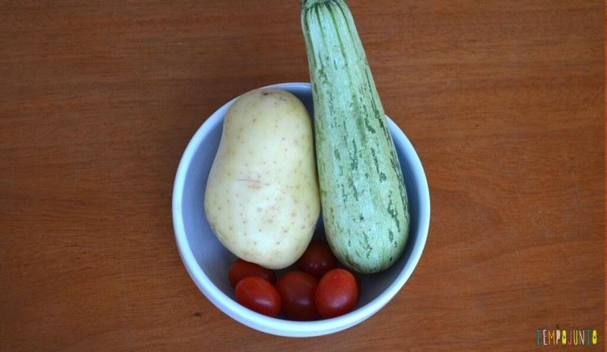 Uma brincadeira para experimentar novos sabores - legumes