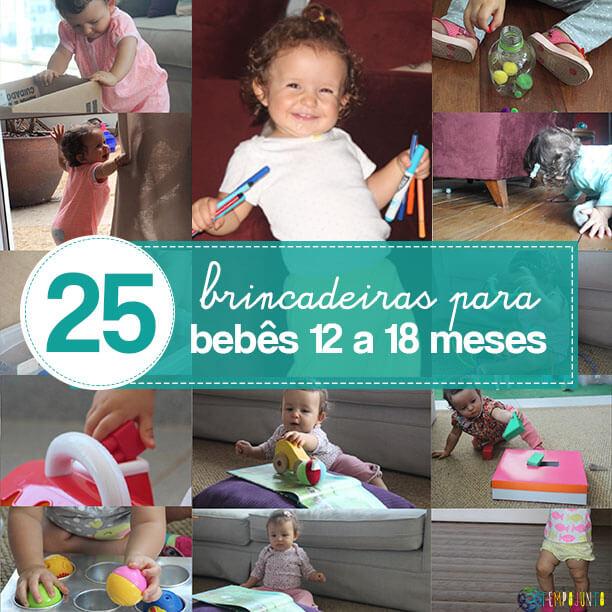 25 brincadeiras para bebês de 12 a 18 meses