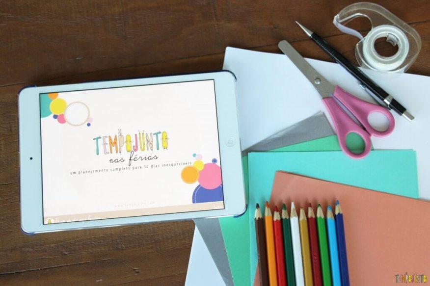 Capa do Ebook Tempojunto nas férias