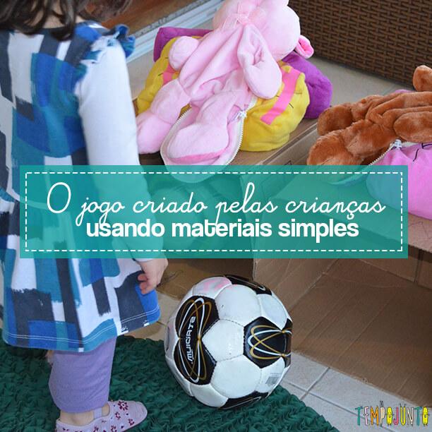 Acerte a bola na casinha do porquinho – o jogo inventado pelas crianças