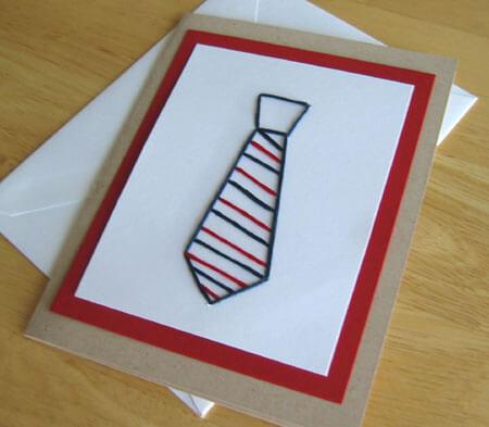 10 ideias criativas de cartão para o Dia dos Pais - cartao gravata