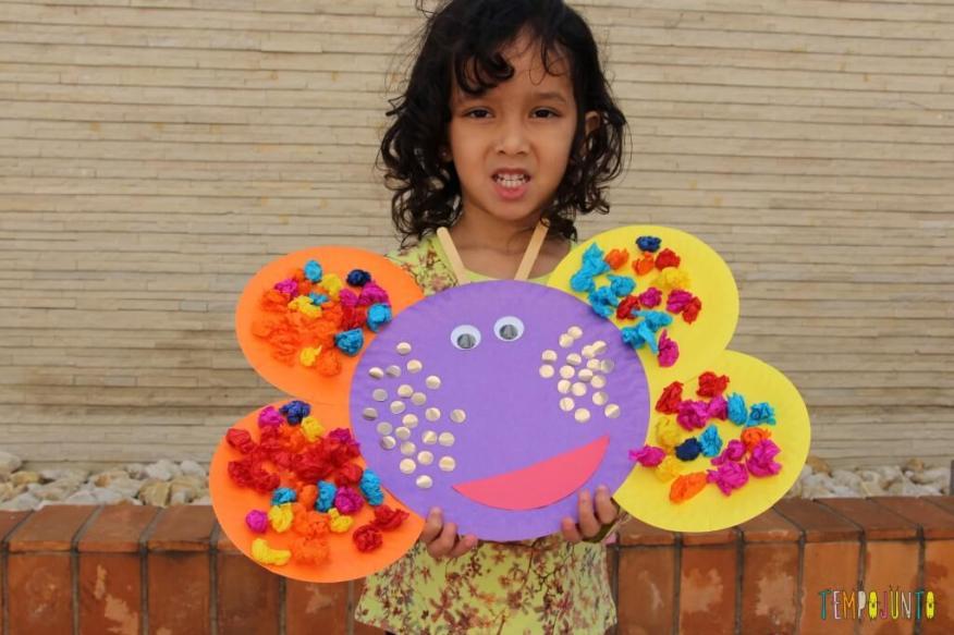 10 ideas criativas para fazer bichinhos com as crianças - borboleta