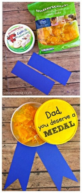 10 ideias de presentes caseiros para o Dia dos Pais - medalha dos pais