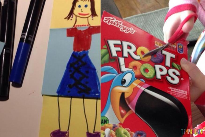 50 brincadeiras artísticas fantásticas que qualquer um consegue fazer - postit e caixa de cereais