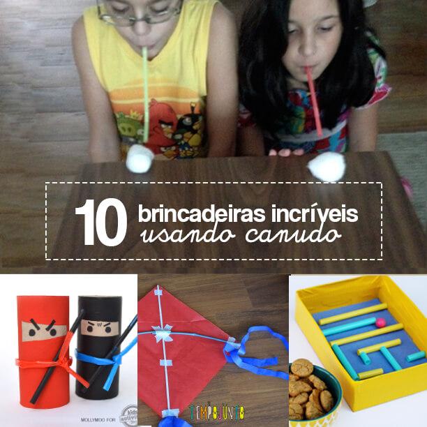 10 incríveis  ideias de brincadeiras com canudo