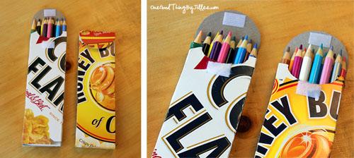 15 ideias de presentes para o Dia do Professor - estojo de caixa de cereal
