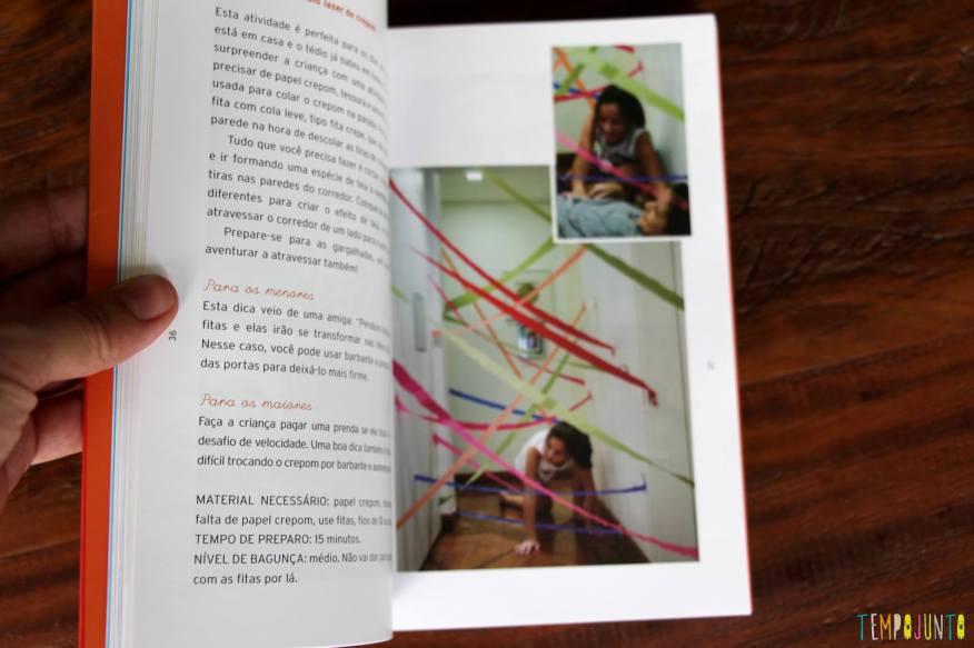 Conheça o livro Tempojunto – 100 brincadeiras incríveis para fazer com os filhos em qualquer lugar - foto livro para os maiores e os menors