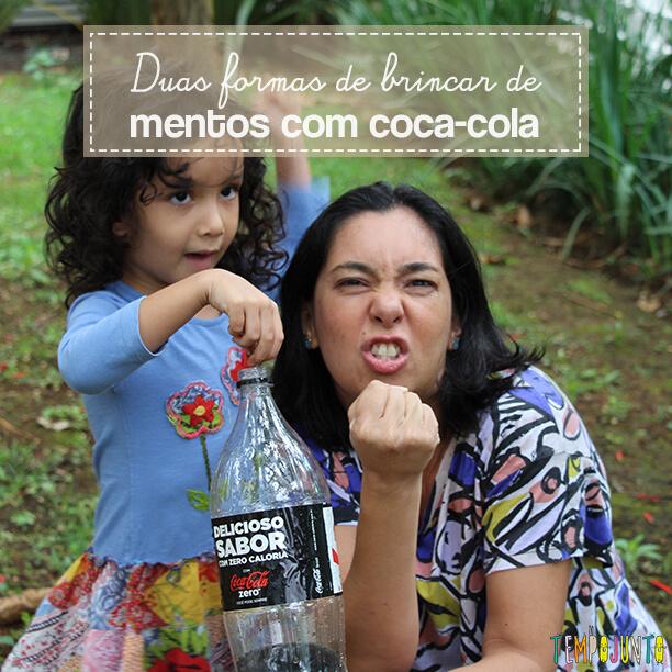 Duas maneiras de fazer a brincadeira com Mentos e Coca-Cola
