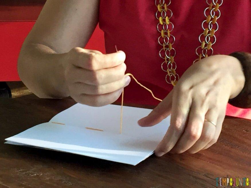 Presente artesanal para o Dia dos Professores - costurando 2