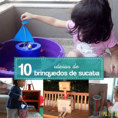 10 ideias de como fazer brinquedos de sucata
