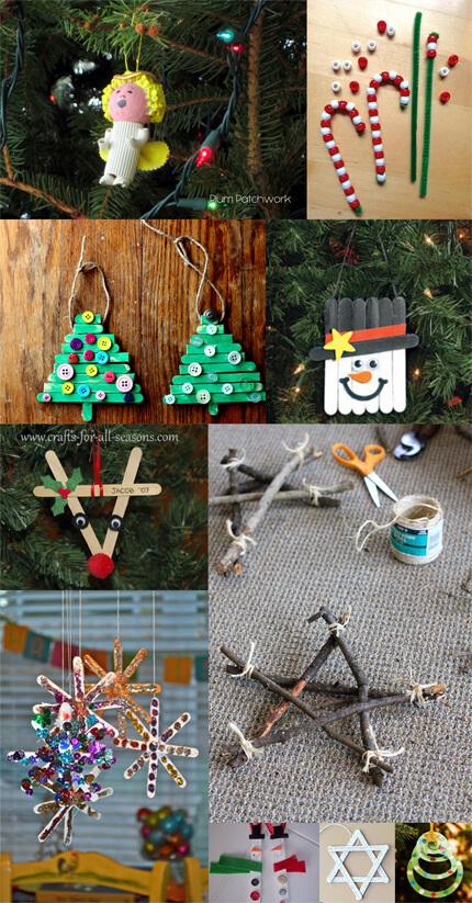 20 ideias para fazer enfeites de natal com as crianças - montagem ideias ano passado cópia