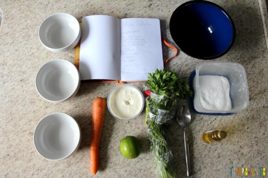 Receita fácil e saudável para fazer com as crianças - ingredientes