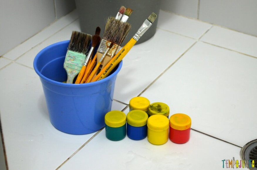Brincadeiras perfeitas para crianças agitadas e cheias de energia - materiais para pintura
