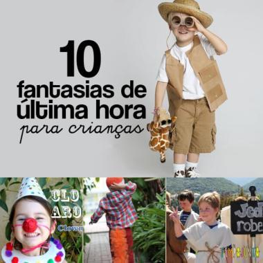 10 fantasias de última hora para as crianças