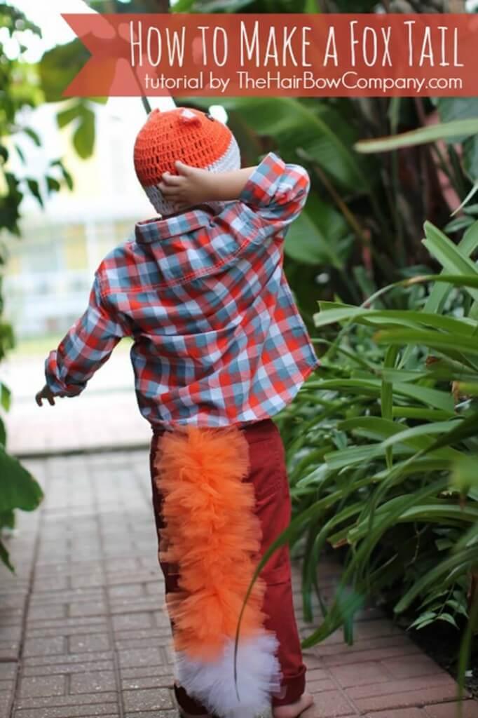 10 fantasias de última hora para as crianças - fantasia com cauda de raposa