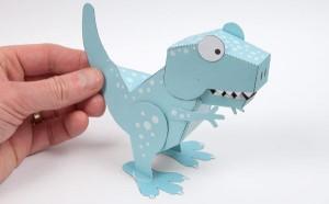 10 ideias de brincadeiras com dinossauros - dinossauro 3D