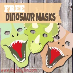 10 ideias de brincadeiras com dinossauros - mascaras de dinossauro