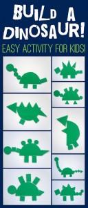 10 ideias de brincadeiras com dinossauros - montagem de dinossauros