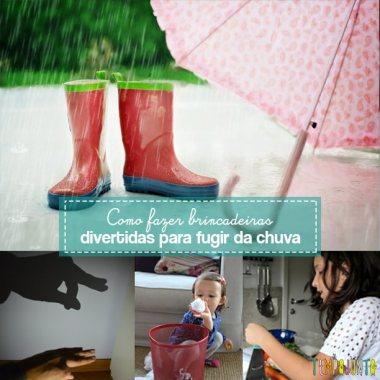 Brincadeiras para você fugir da chuva e aproveitar o tempo com seus filhos