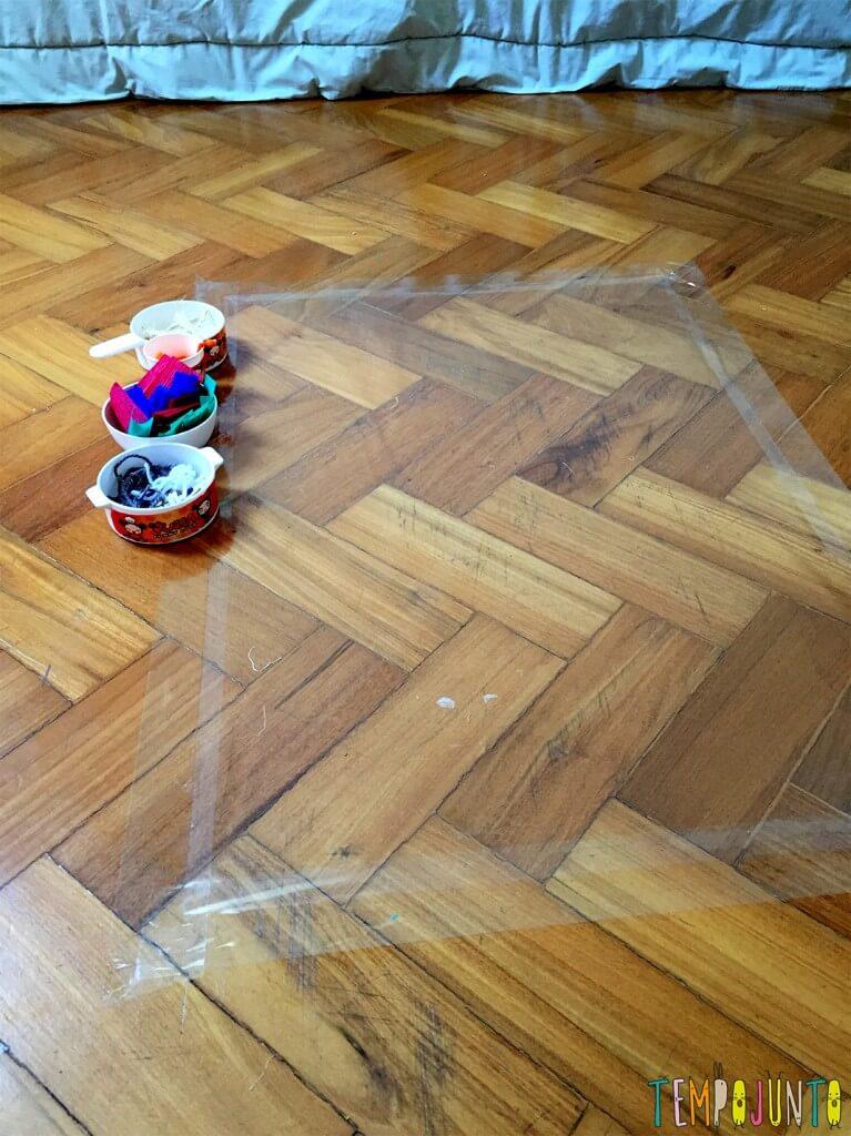 Explorar materiais- uma atividade e tanto para as crianças - cantinho