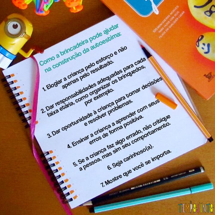 Como aumentar a autoestima das crianças com as brincadeiras - lista para autoestima