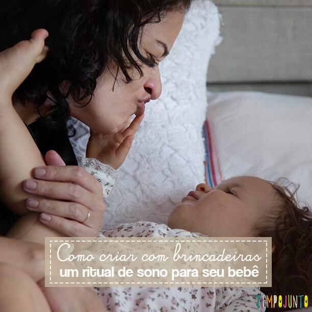 Como criar um ritual de sono para seu bebê com brincadeiras