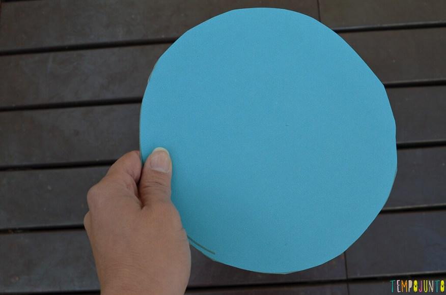 Faça em casa o jogo do Twister - circulo cortado