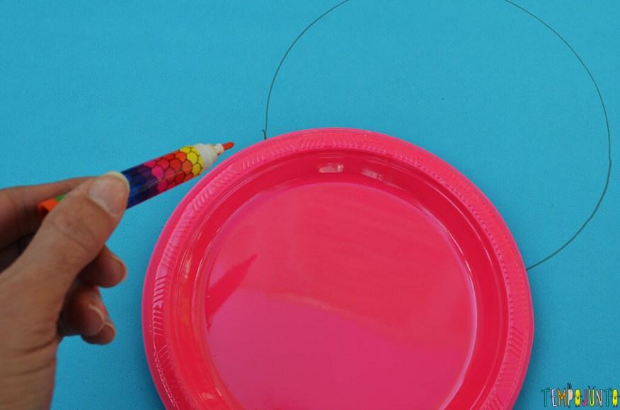 Faça em casa o jogo do Twister - circulo desenhado
