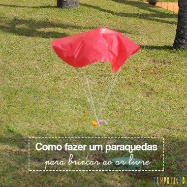 Paraquedas é diversão garantida para fazermos ao ar livre