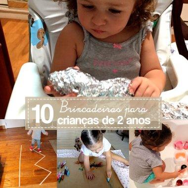 10 melhores brincadeiras para crianças de 2 anos