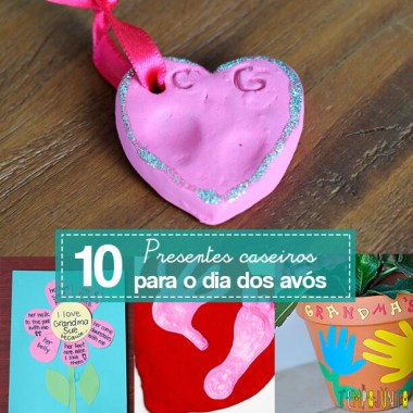 10 ideias de como fazer um presente para os avós