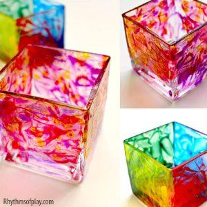 10 ideias de como fazer um presente para os avós - vidro pintado