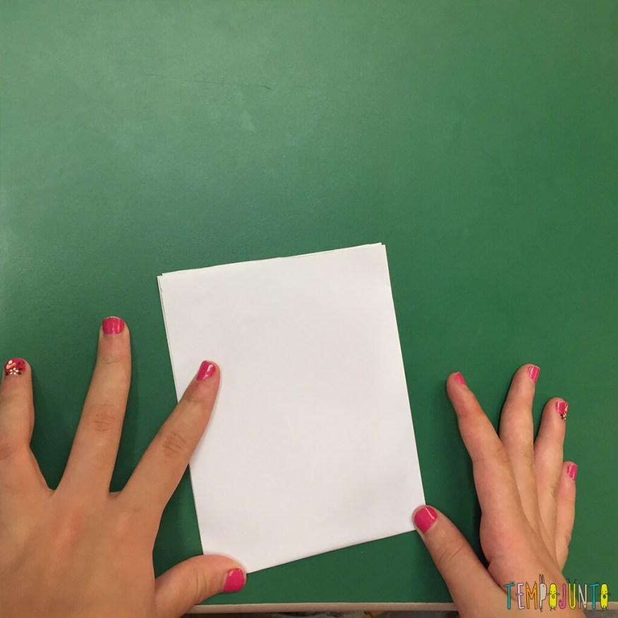 Brincadeira de origami - segunda dobra