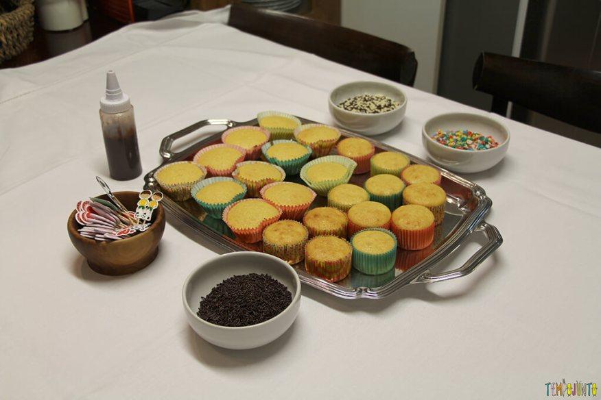 Dicas e receitas para o seu tempo na cozinha com as crianças - cupcakes prontos