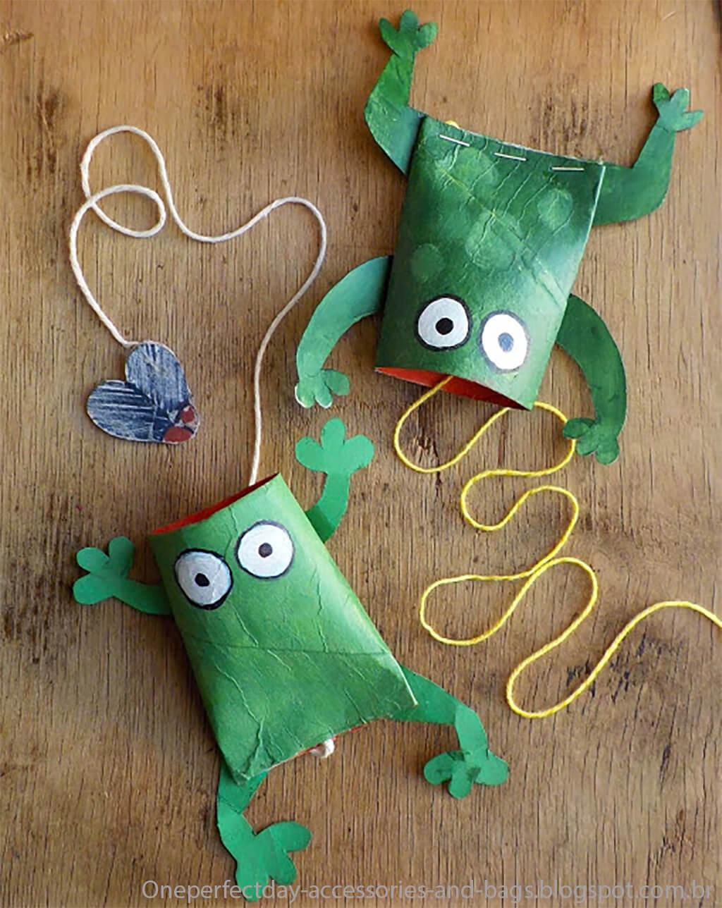 Mais 10 Ideias De Brinquedos Com Rolo De Papel Higienico Sapo