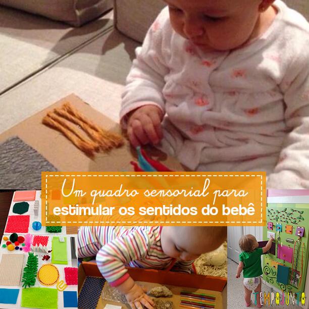 Um quadro sensorial para estimular os sentidos do bebê - capa